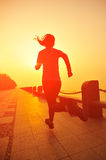 Healthy lifestyle beautiful asian woman running Stock Image