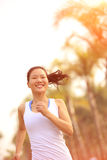 Healthy lifestyle beautiful asian woman running Stock Photos