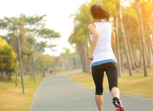 Healthy lifestyle beautiful asian woman running Stock Photo