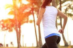 Healthy lifestyle beautiful asian woman running Royalty Free Stock Photos