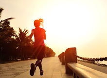 Healthy lifestyle beautiful asian woman running Royalty Free Stock Photo