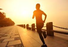 Healthy lifestyle beautiful asian woman running Stock Photos