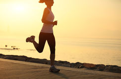 Healthy lifestyle beautiful asian woman running Royalty Free Stock Image