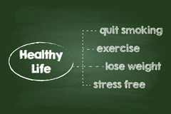 Healthy Lifestyle Chart Stock Photography