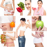 Healthy lifestyle collage Stock Photo