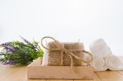 The healthy lifestyle concept with aromatic soaps stock photos