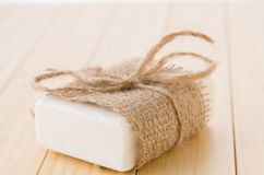 The healthy lifestyle concept with aromatic soaps royalty free stock photos