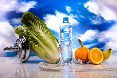 Healthy lifestyle concept, Diet and fitness Stock Image