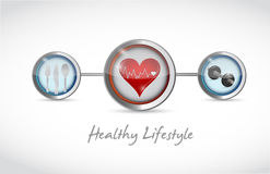 Healthy lifestyle concept illustration design. Over a white background Royalty Free Stock Photography