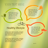Healthy-lifestyle-concept-layout-leaflets Stock Photos