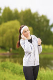 Healthy Lifestyle Concept: Portrait of Beautiful Sportive Woman Royalty Free Stock Photography