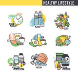 The healthy lifestyle concept Stock Image