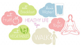 Healthy lifestyle concept. Vector illustration of the healthy lifestyle concept Stock Images