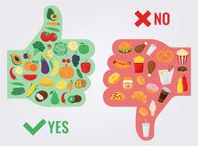 Healthy Lifestyle concept. We are what we eat. Vector Stock Photography