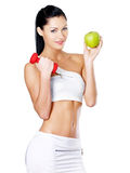Healthy lifestyle concept of woman Royalty Free Stock Images