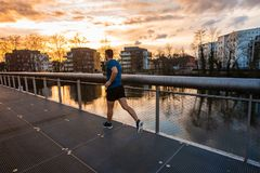 Healthy lifestyle concept. Workout jogging activity royalty free stock images