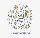 Healthy lifestyle conceptual image, dieting, fitness and nutrition. Royalty Free Stock Image
