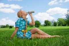 Healthy lifestyle in the countryside Stock Photography