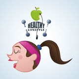 Healthy lifestyle design. Bodycare icon.  illustration, vector graphic Royalty Free Stock Photos