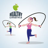 Healthy lifestyle design. Bodycare icon.  illustration, vector graphic Stock Images