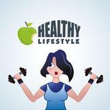 Healthy lifestyle design. Bodycare icon.  illustration, vector graphic Stock Image