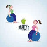 Healthy lifestyle design. Bodycare icon.  illustration, vector graphic Royalty Free Stock Images