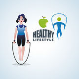 Healthy lifestyle design. Bodycare icon.  illustration, vector graphic Royalty Free Stock Photography