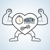 Healthy lifestyle design. Bodycare icon. Isolated illustration, vector graphic. Healthy lifestyle  concept with icon design, vector illustration 10 eps graphic Royalty Free Stock Photos