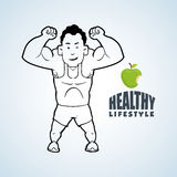 Healthy lifestyle design. Bodycare icon. Isolated illustration, vector graphic. Healthy lifestyle  concept with icon design, vector illustration 10 eps graphic Royalty Free Stock Photography