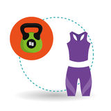 Healthy lifestyle design, fitness and bodybuilding concept Stock Photography