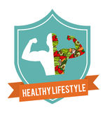 Healthy lifestyle design Royalty Free Stock Photography