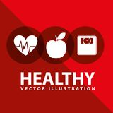 Healthy lifestyle. Design,  illustration eps10 graphic Royalty Free Stock Photography