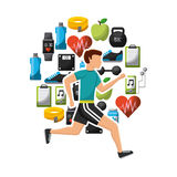 Healthy lifestyle design Stock Images