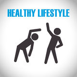 Healthy lifestyle design Stock Image
