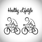 Healthy lifestyle design Royalty Free Stock Photos