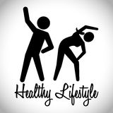 Healthy lifestyle design Stock Photography