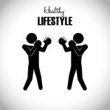 Healthy lifestyle design Stock Photos