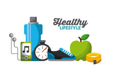 Healthy lifestyle design Royalty Free Stock Image