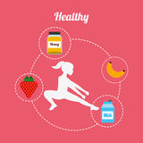 Healthy lifestyle design Royalty Free Stock Photo