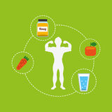 Healthy lifestyle design. Vector illustration eps10 graphic Stock Photography
