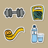 Healthy lifestyle design, vector illustration Royalty Free Stock Photos
