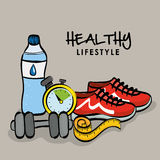 Healthy lifestyle design, vector illustration Stock Images