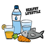 Healthy lifestyle design, vector illustration Royalty Free Stock Photo
