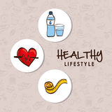 Healthy lifestyle design, vector illustration Stock Photos