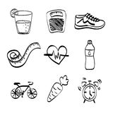 Healthy lifestyle design, vector illustration Stock Image