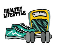 Healthy lifestyle design, vector illustration Royalty Free Stock Images