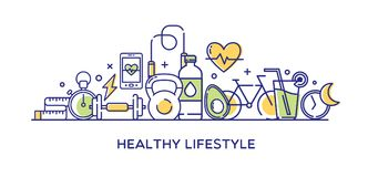 Healthy Lifestyle Vector Illustration Stock Photography