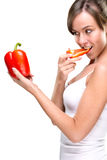 Healthy lifestyle! Eat lots of vegetables! Royalty Free Stock Photography