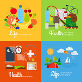 Healthy lifestyle elements Royalty Free Stock Photography