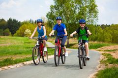 Healthy lifestyle - family biking Royalty Free Stock Photography